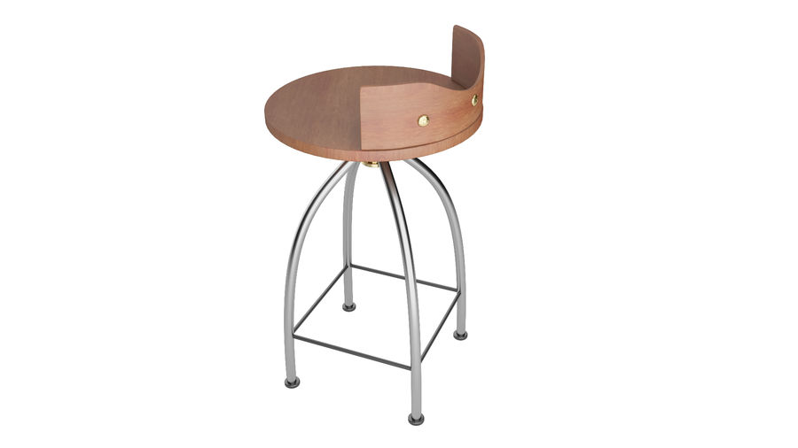 Chair Bar Stool royalty-free 3d model - Preview no. 10