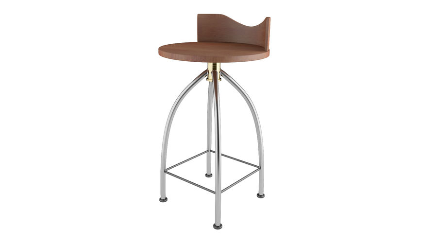 Chair Bar Stool royalty-free 3d model - Preview no. 4