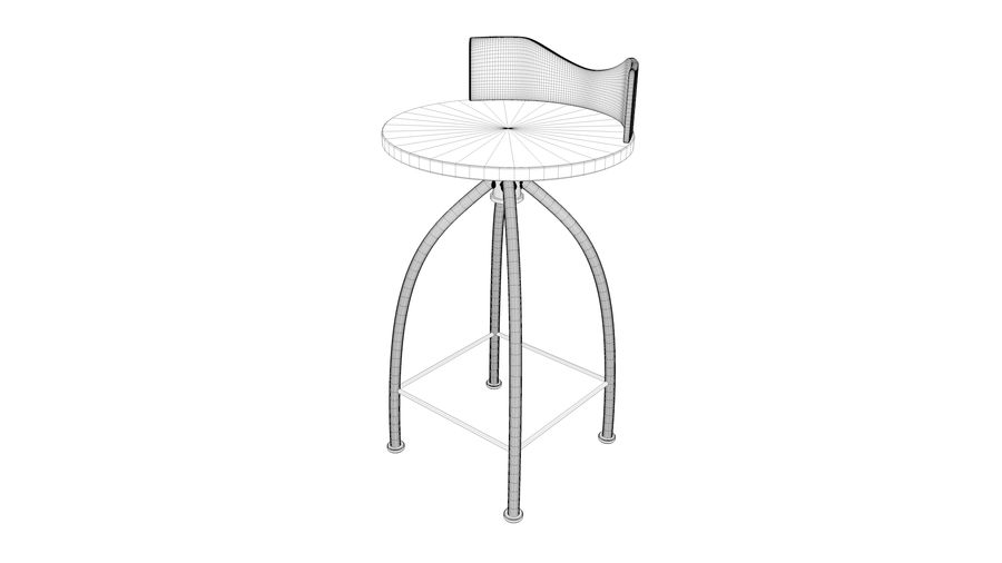 Chair Bar Stool royalty-free 3d model - Preview no. 14