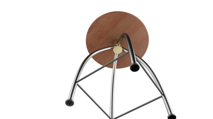 Chair Bar Stool royalty-free 3d model - Preview no. 7