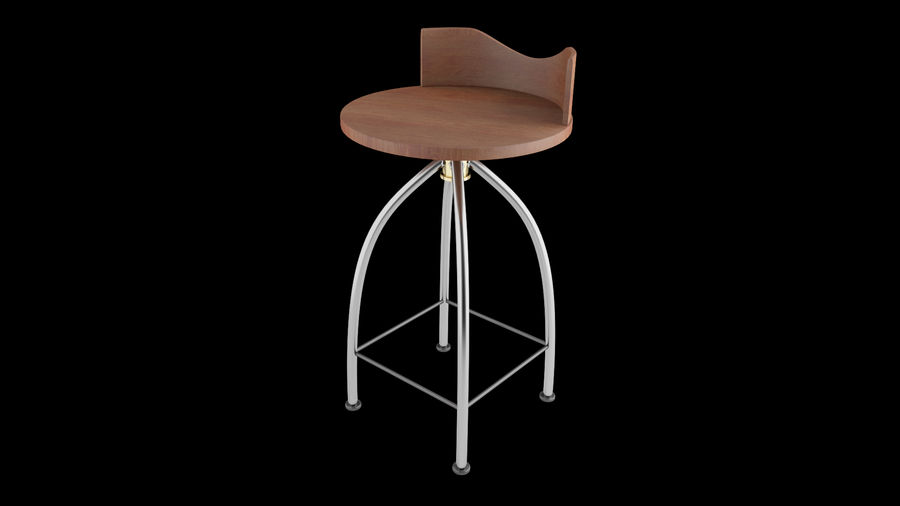 Chair Bar Stool royalty-free 3d model - Preview no. 3