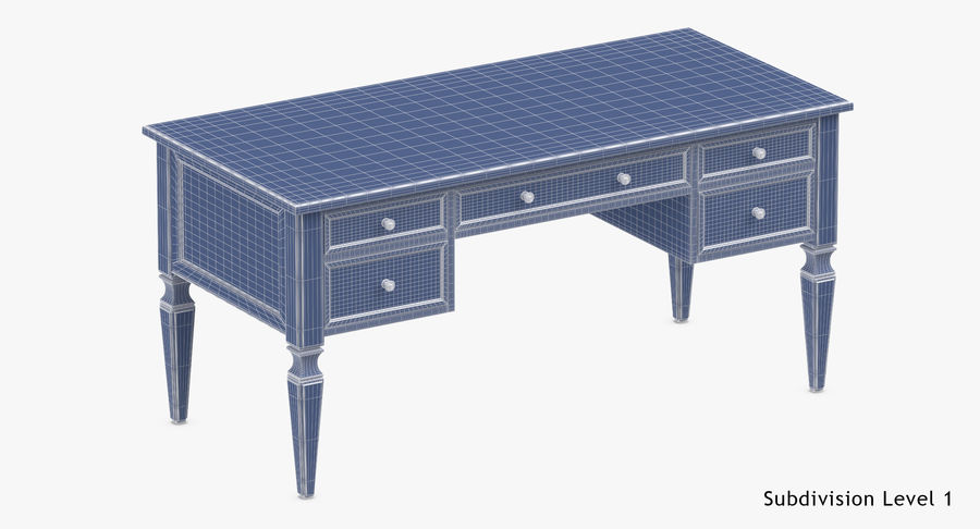 Traditional Desk royalty-free 3d model - Preview no. 18