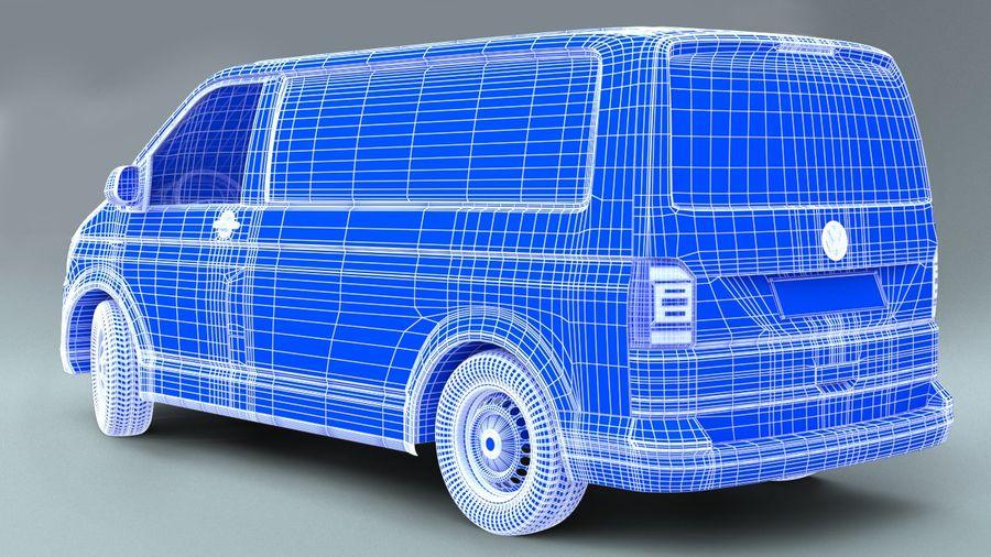 Volkswagen Transporter T6 Painel Van royalty-free 3d model - Preview no. 8