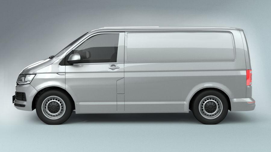Volkswagen Transporter T6 Painel Van royalty-free 3d model - Preview no. 2