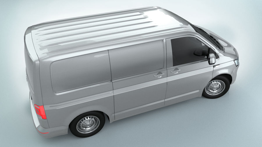 Volkswagen Transporter T6 Painel Van royalty-free 3d model - Preview no. 5