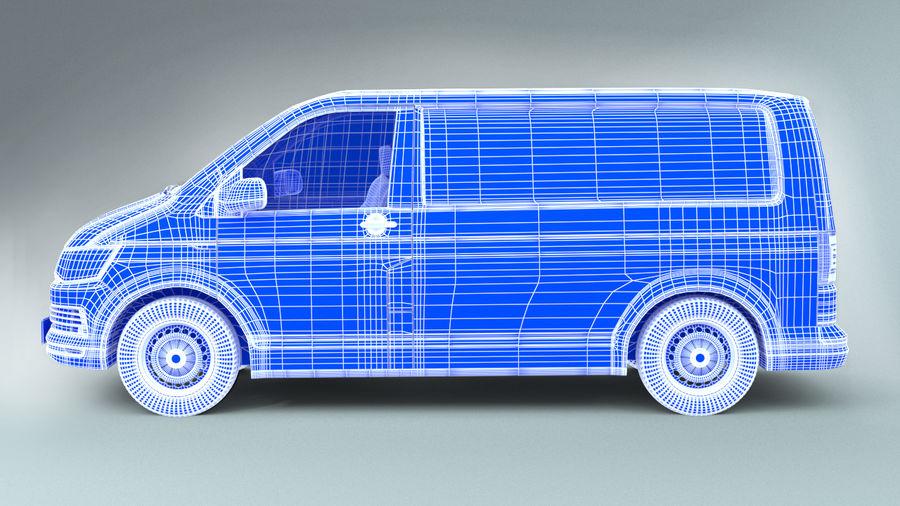 Volkswagen Transporter T6 Painel Van royalty-free 3d model - Preview no. 7