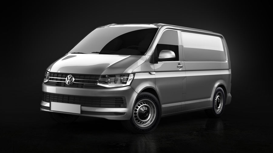 Volkswagen Transporter T6 Painel Van royalty-free 3d model - Preview no. 1