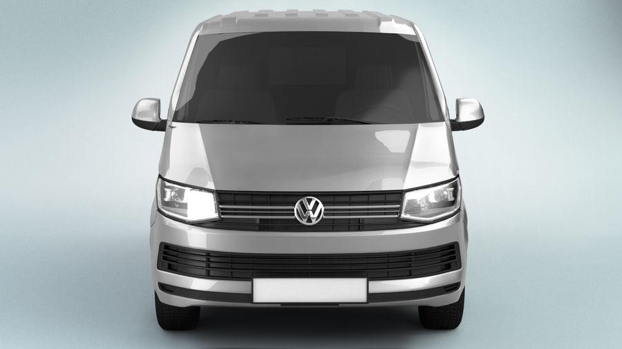 Volkswagen Transporter T6 Painel Van royalty-free 3d model - Preview no. 4