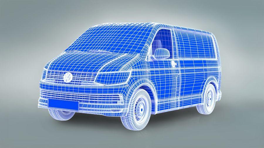 Volkswagen Transporter T6 Painel Van royalty-free 3d model - Preview no. 6