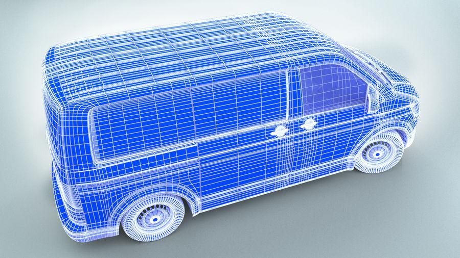 Volkswagen Transporter T6 Painel Van royalty-free 3d model - Preview no. 10