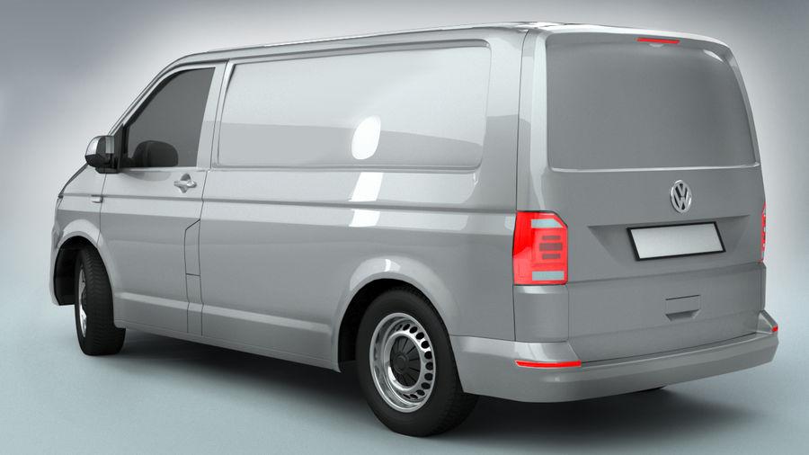 Volkswagen Transporter T6 Painel Van royalty-free 3d model - Preview no. 3