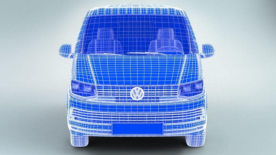 Volkswagen Transporter T6 Painel Van royalty-free 3d model - Preview no. 9
