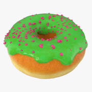 Green Tea Donut 3d model