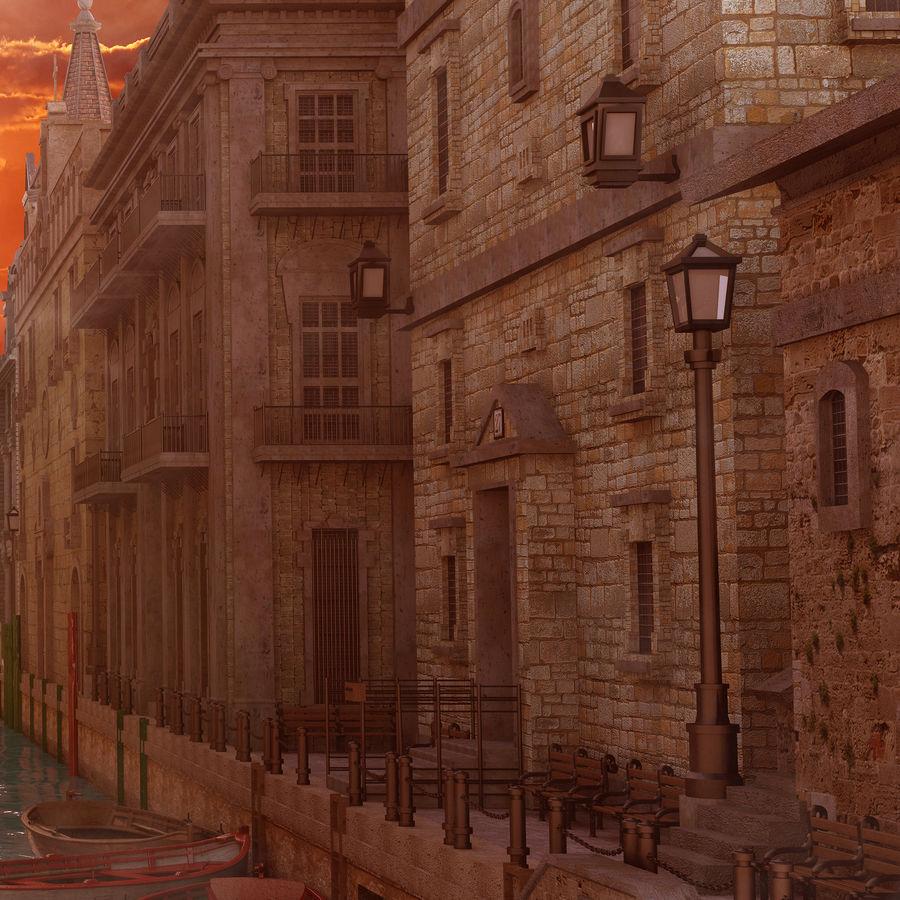 Sunset Venice Landscape royalty-free 3d model - Preview no. 5