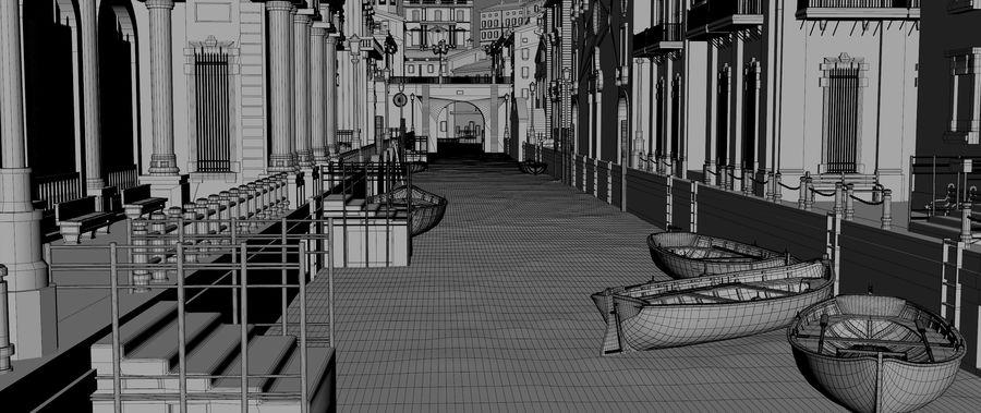 Sunset Venice Landscape royalty-free 3d model - Preview no. 12