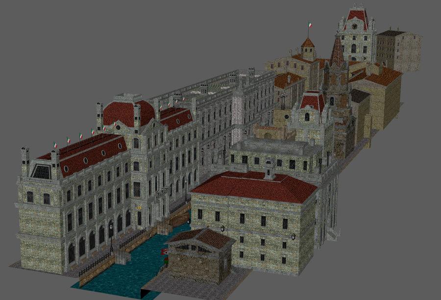 Sunset Venice Landscape royalty-free 3d model - Preview no. 9