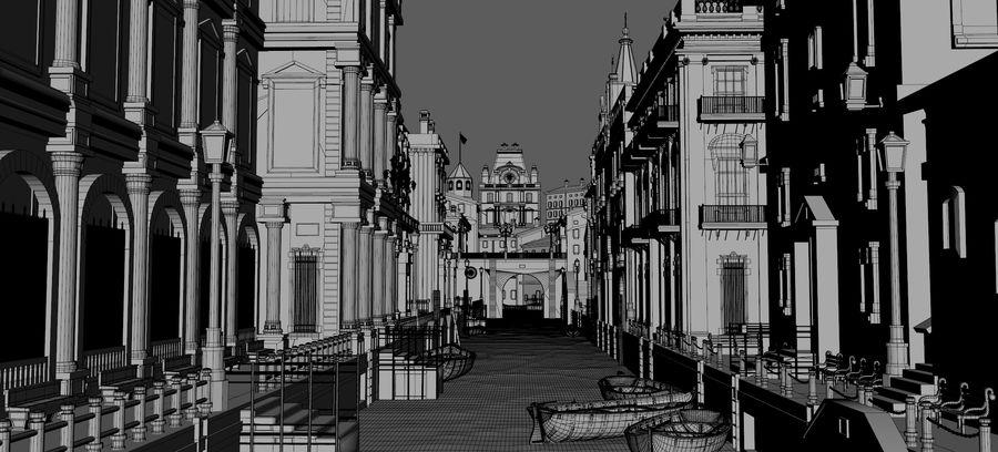 Sunset Venice Landscape royalty-free 3d model - Preview no. 6