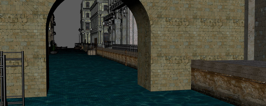 Sunset Venice Landscape royalty-free 3d model - Preview no. 18