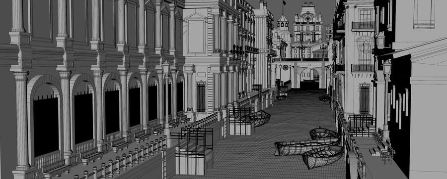 Sunset Venice Landscape royalty-free 3d model - Preview no. 8