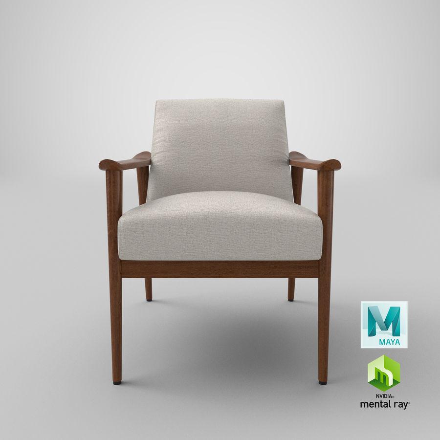 中世纪现代扶手椅 royalty-free 3d model - Preview no. 20