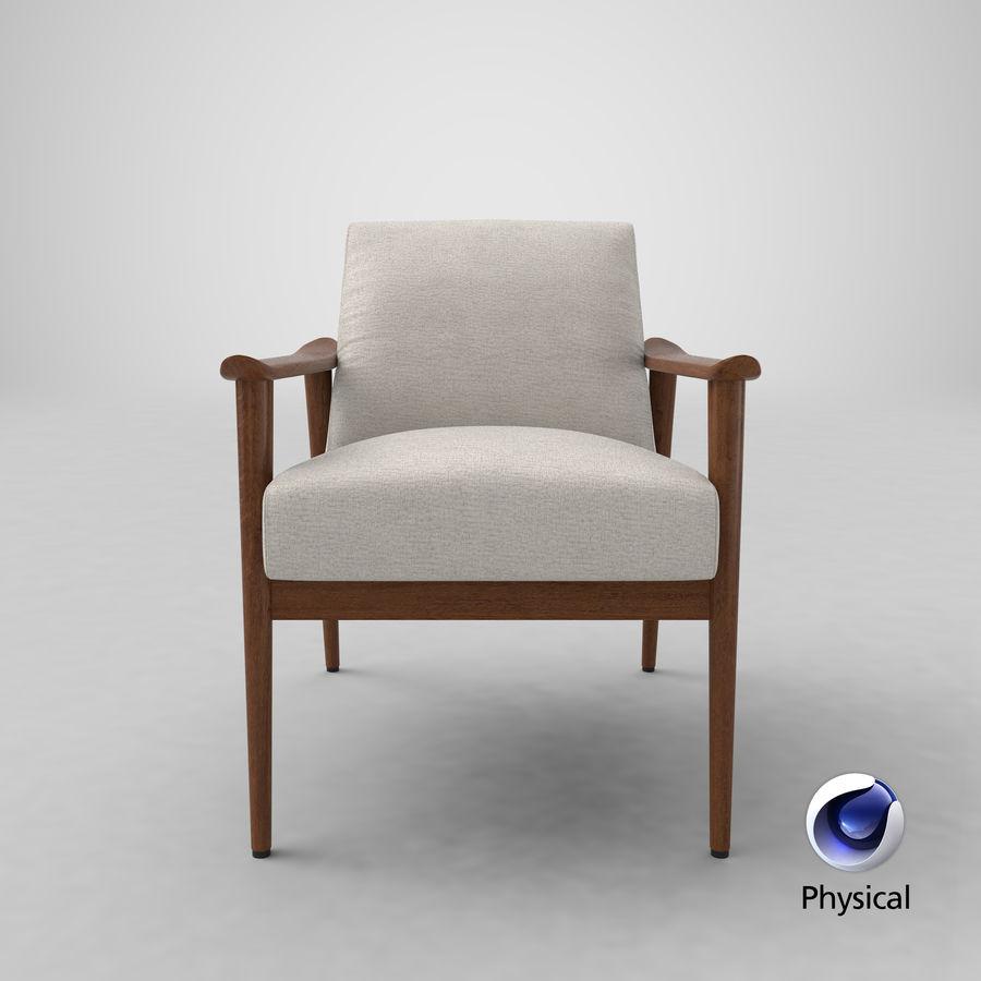 中世纪现代扶手椅 royalty-free 3d model - Preview no. 23