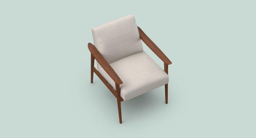 中世纪现代扶手椅 royalty-free 3d model - Preview no. 4