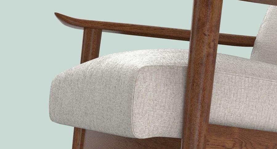 中世纪现代扶手椅 royalty-free 3d model - Preview no. 9