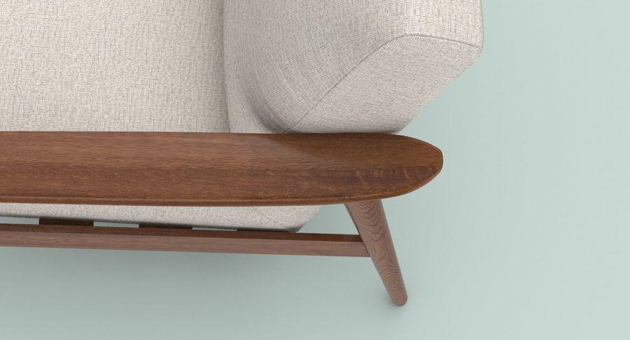 中世纪现代扶手椅 royalty-free 3d model - Preview no. 10