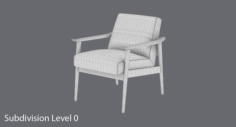 中世纪现代扶手椅 royalty-free 3d model - Preview no. 12
