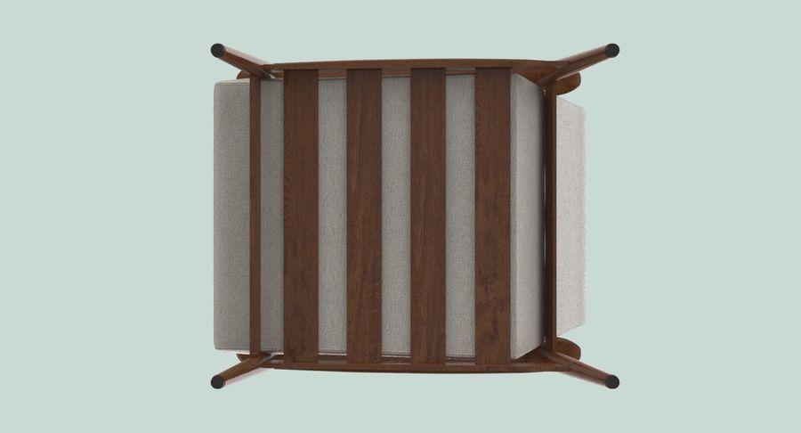 中世纪现代扶手椅 royalty-free 3d model - Preview no. 11