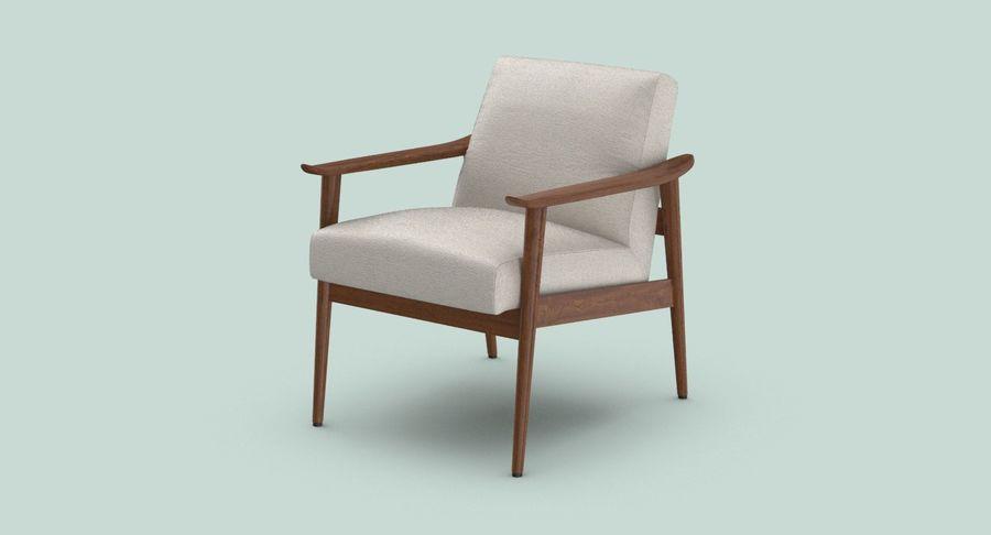 中世纪现代扶手椅 royalty-free 3d model - Preview no. 3