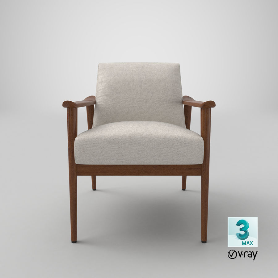 中世纪现代扶手椅 royalty-free 3d model - Preview no. 21