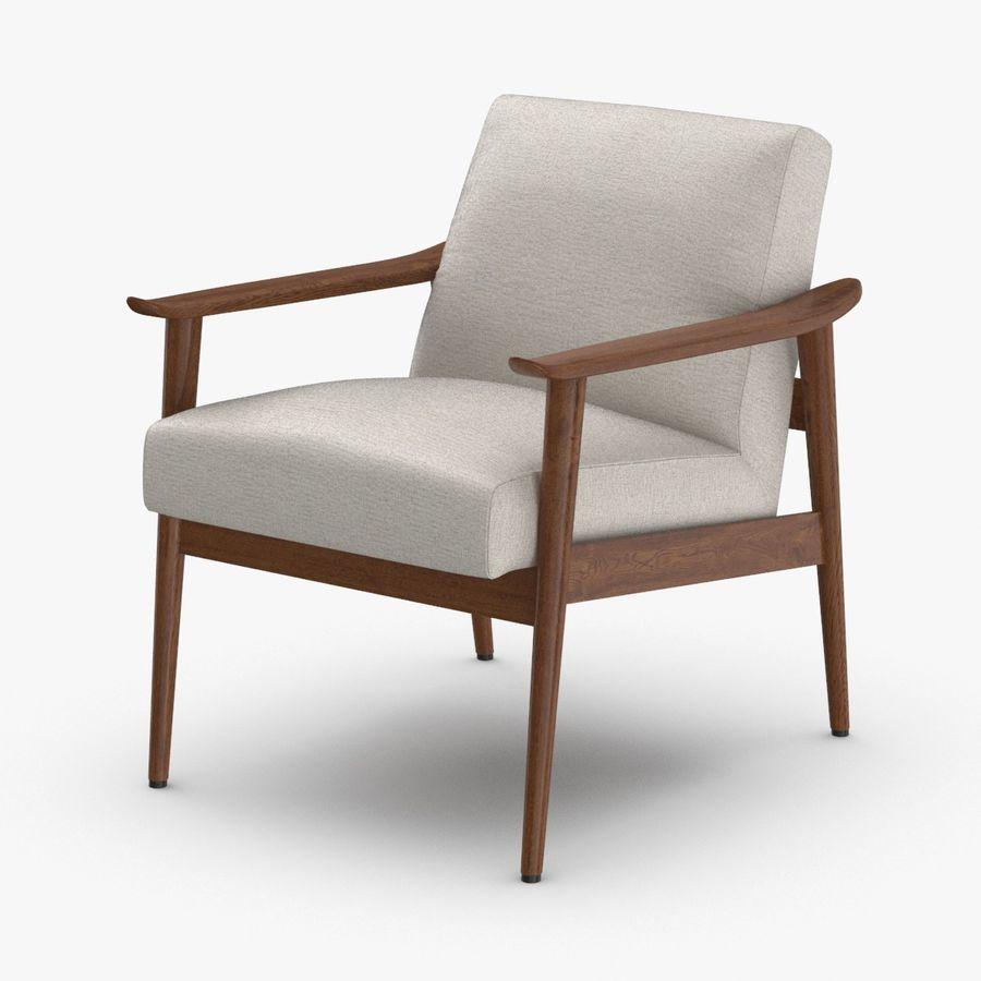 中世纪现代扶手椅 royalty-free 3d model - Preview no. 1