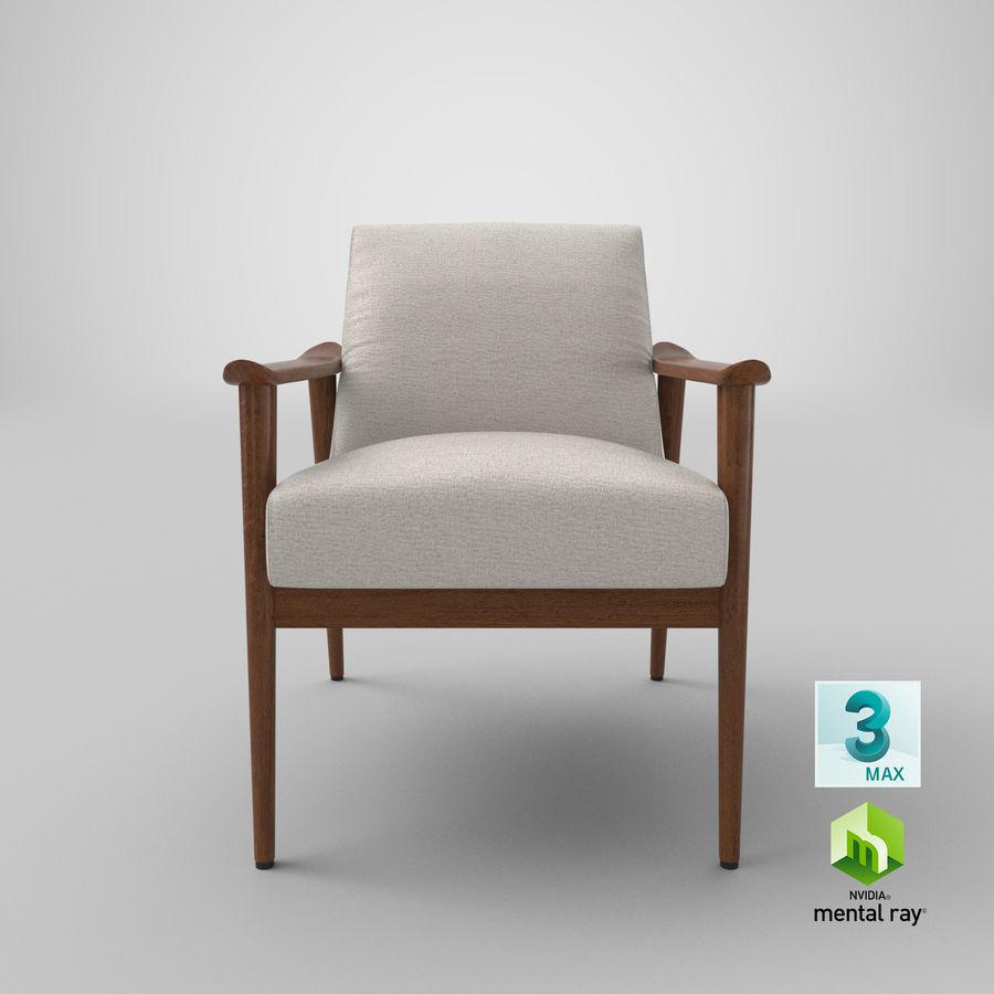 中世纪现代扶手椅 royalty-free 3d model - Preview no. 22