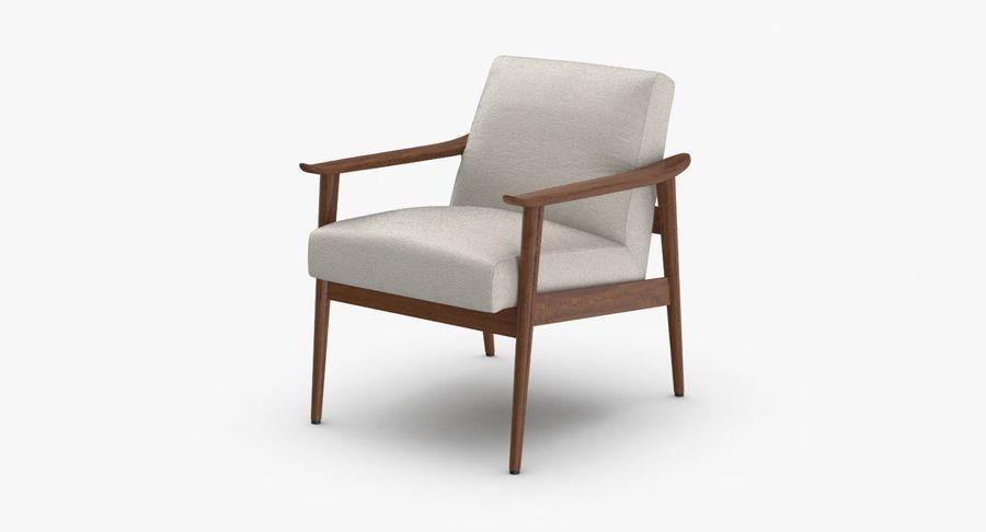 中世纪现代扶手椅 royalty-free 3d model - Preview no. 2