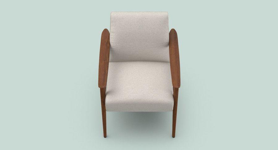 中世纪现代扶手椅 royalty-free 3d model - Preview no. 8