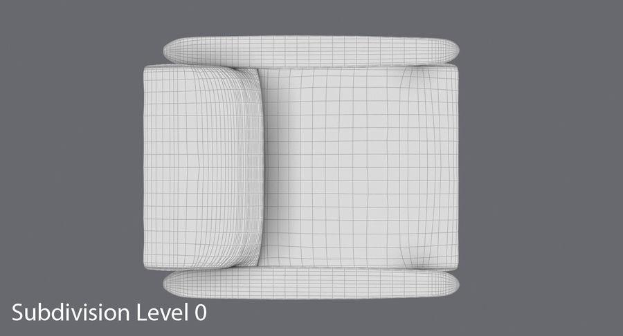中世纪现代扶手椅 royalty-free 3d model - Preview no. 13