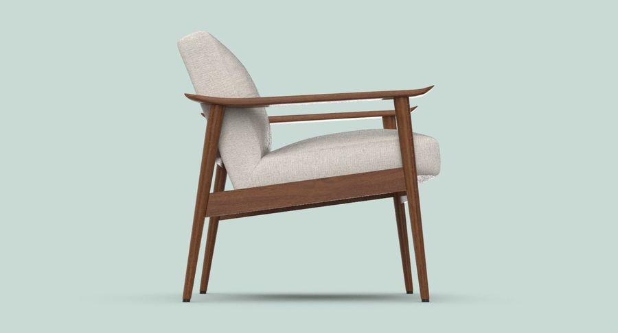 中世纪现代扶手椅 royalty-free 3d model - Preview no. 7