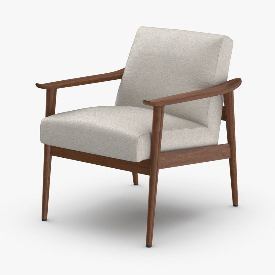 Mid century modern arm chair royalty free 3d model preview no 1