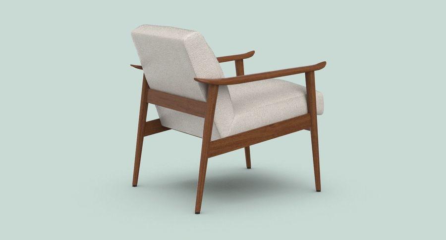 中世纪现代扶手椅 royalty-free 3d model - Preview no. 6