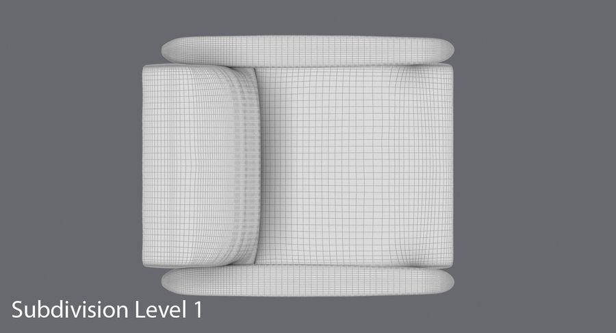 中世纪现代扶手椅 royalty-free 3d model - Preview no. 16