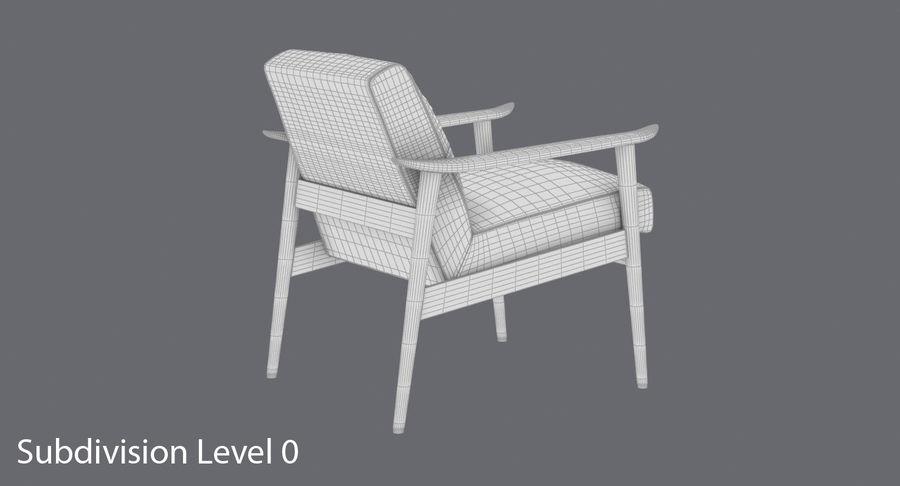 中世纪现代扶手椅 royalty-free 3d model - Preview no. 14