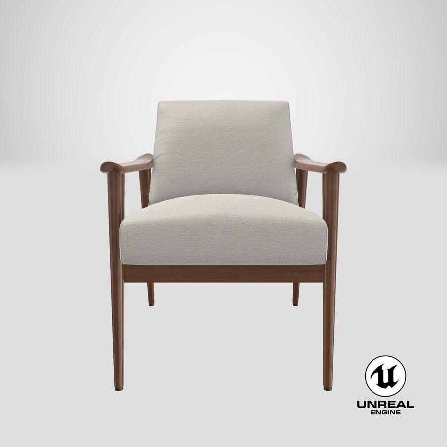 中世纪现代扶手椅 royalty-free 3d model - Preview no. 24