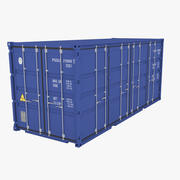 Industrial Side Door Container 20ft 3d model