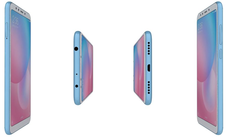 Xiaomi Redmi 5 Light Blue royalty-free 3d model - Preview no. 9