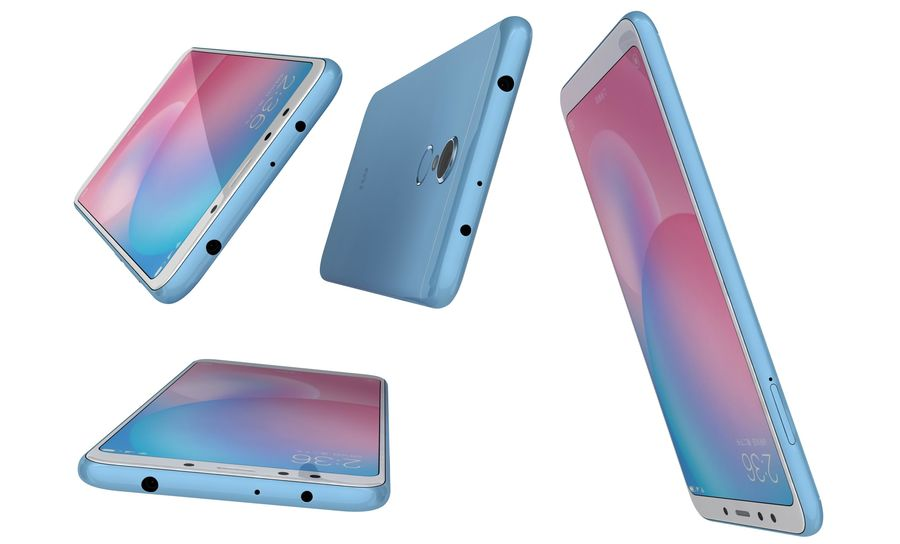 Xiaomi Redmi 5 Light Blue royalty-free 3d model - Preview no. 14