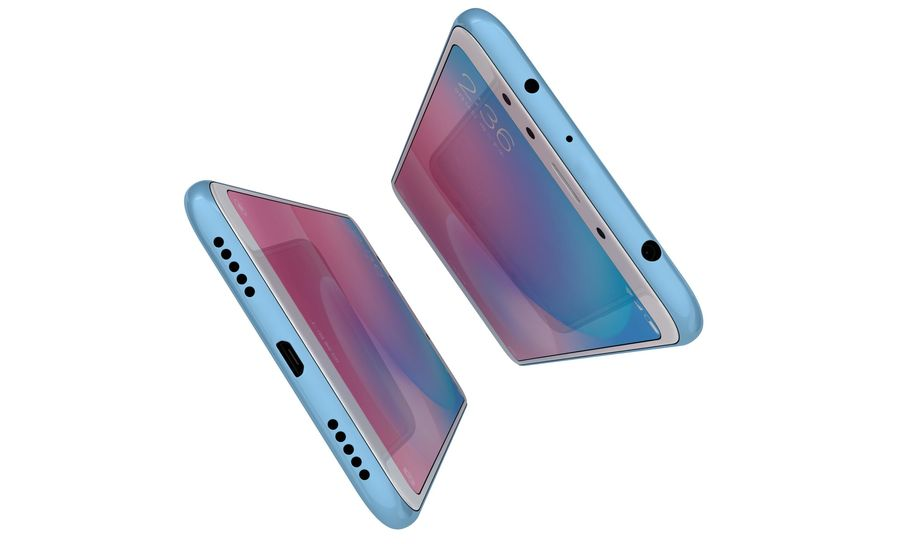 Xiaomi Redmi 5 Light Blue royalty-free 3d model - Preview no. 10