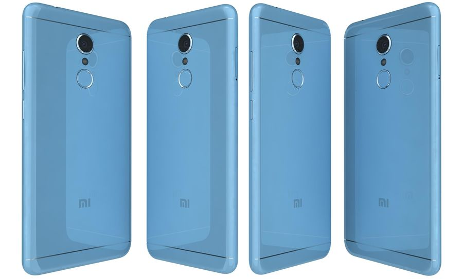 Xiaomi Redmi 5 Light Blue royalty-free 3d model - Preview no. 3