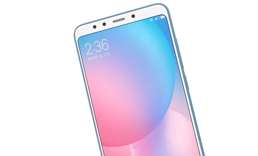 Xiaomi Redmi 5 Light Blue royalty-free 3d model - Preview no. 15