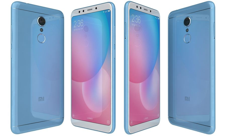 Xiaomi Redmi 5 Light Blue royalty-free 3d model - Preview no. 1